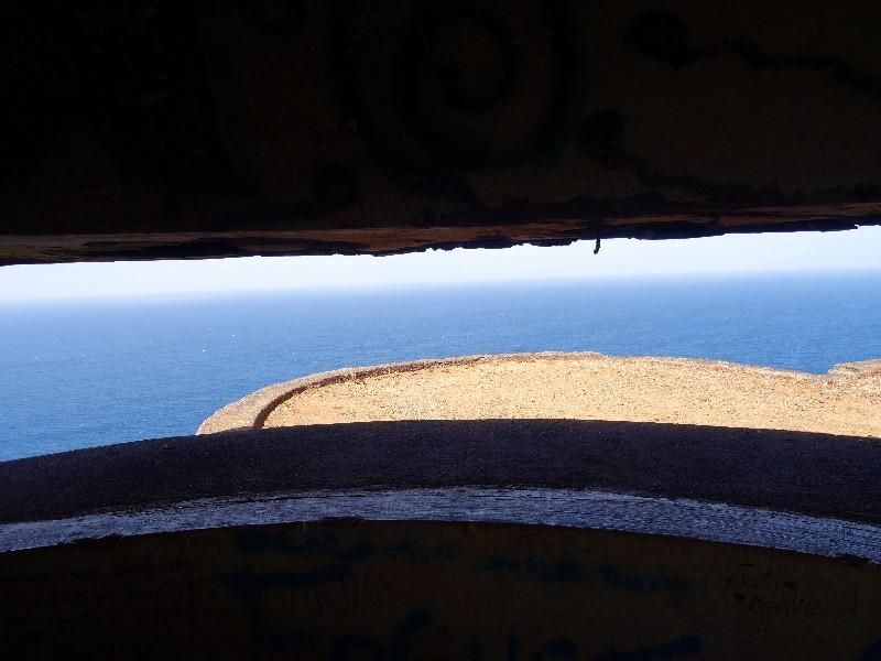 Ausblick aus dem oberen Bunker