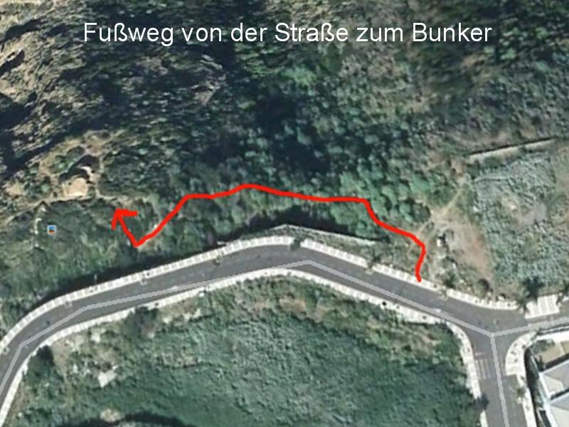 Fußweg zum Bunker