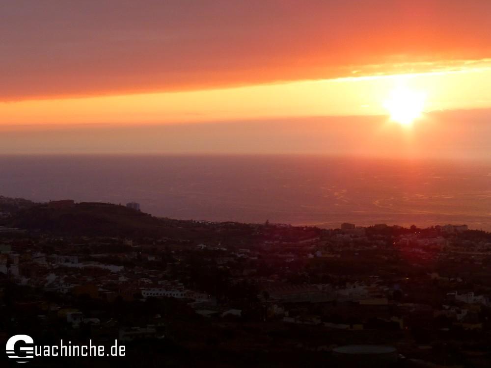 Sonnenuntergang im Orotavatal