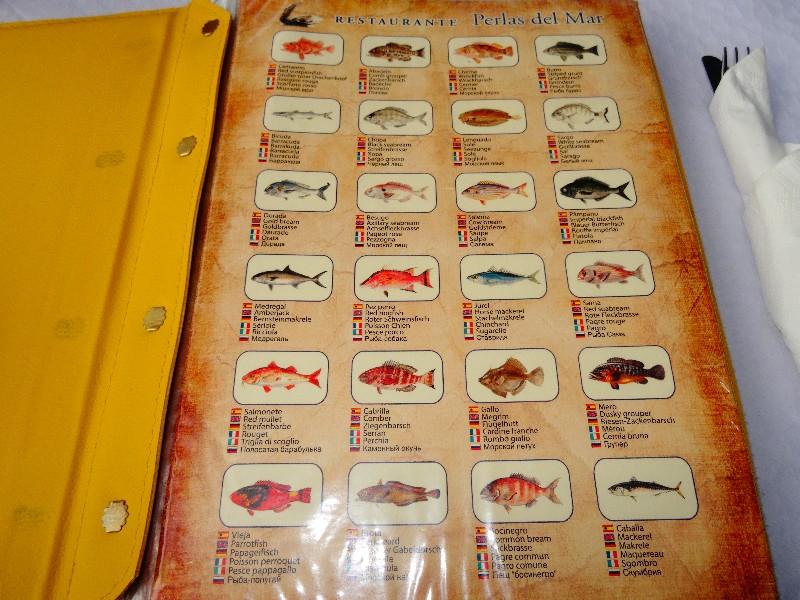 Karte mit Fischsorten
