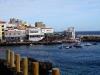 Blick auf den Hafen und das Restaurant