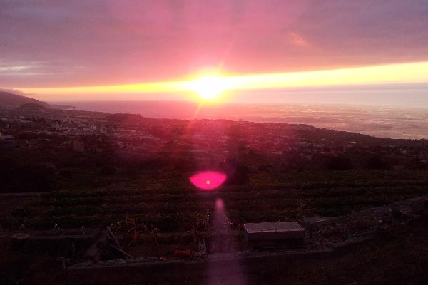 Ausblick bei Sonnenuntergang