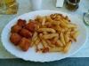 Chickenbites mit Pommes